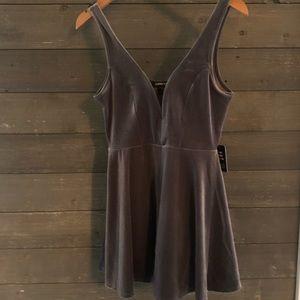 NWT!! Express velvet romper dress